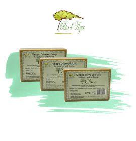 敘利亞阿勒頗橄欖油手工皂 100g 3件優惠裝 (原價:$135)