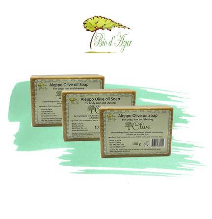 敘利亞阿勒頗橄欖油手工皂 100g 3件優惠裝