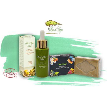 有機摩洛哥堅果油加蜂膠天然草本洗髮皂套裝