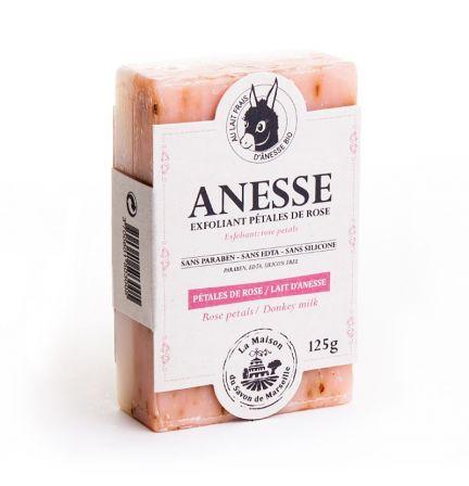 法國雙重護理有機驢奶皂- 驢奶/玫瑰花瓣 (PETALES DE ROSE/ANESSE)